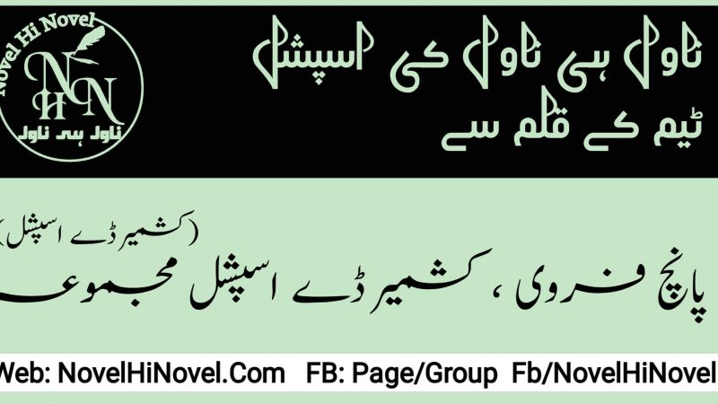 Kashmir Day Special Majmua By Novel Hi Novel Team